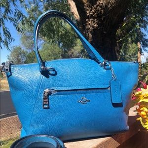 Authentic Coach F79997 blue Leather crossbody bag